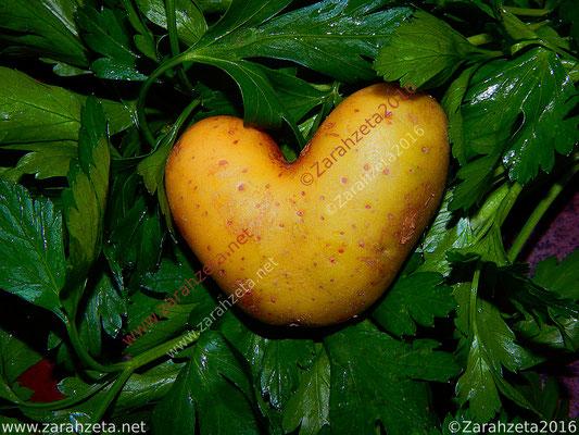 Zarahzetas Fotowand mit Essen & Trinken und Kartoffel in Herzform