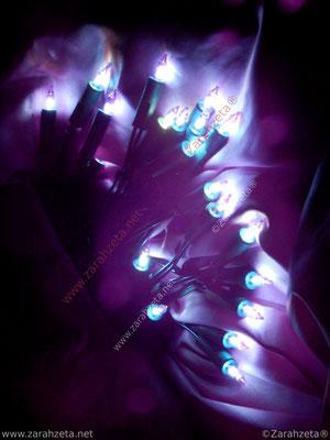 Blaue Lichterkette