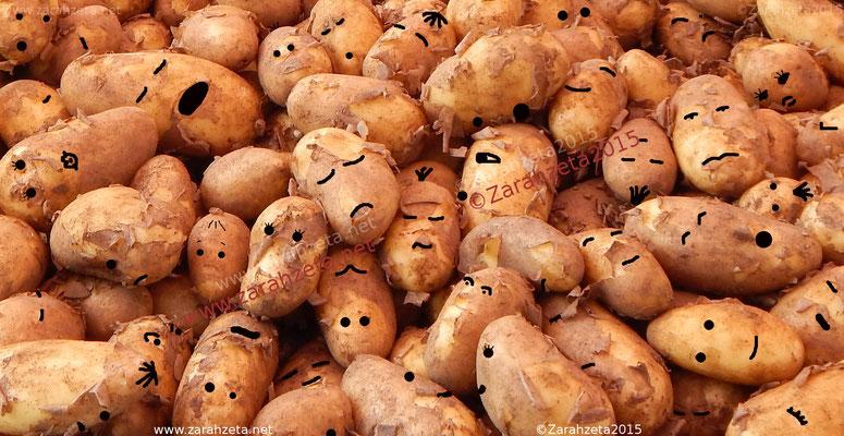 Kartoffeln mit Gesichtern als Kartoffelköppe