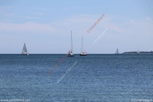 Segelboote auf der Ostsee im Sommer
