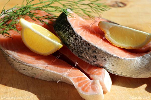 Zarahzetas Fotowand mit Essen & Trinken und frischem Lachs