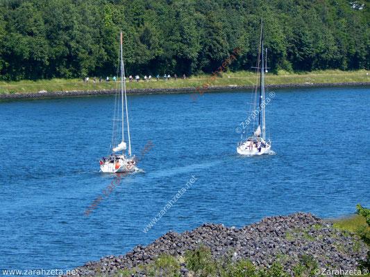 Segelausflug auf dem Nord-Ostsee-Kanal