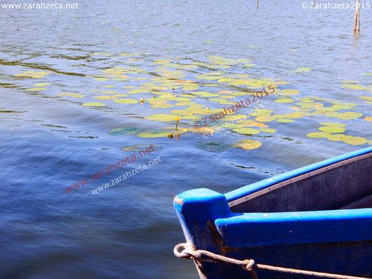 Fischeridylle mit altem Fischerboot auf dem See