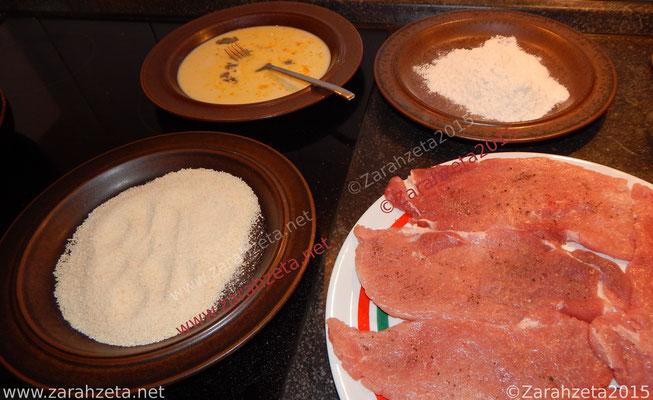 Alternativer Foodblog mit Panierstraße für Schnitzel