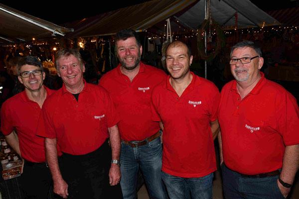 Der aktuelle Vorstand: vlnr. Andy Vögele jun., Max Schwarz, Hans Peter Erne (Präsident/ Oberesel), Peter Thoma und Andy Vögele sen.