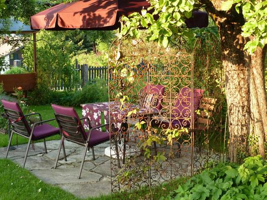 Sitzbereich im Garten