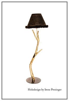 Stehlampe Goldmarie Holzdesign Irene Prosinger