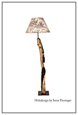 Stehlampe Hirschjagd  Holzdesign Irene Prosinger