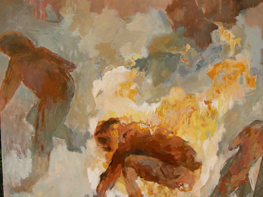 """""""Ignoranz"""" - Acryl auf LW - 140 x 160 cm"""