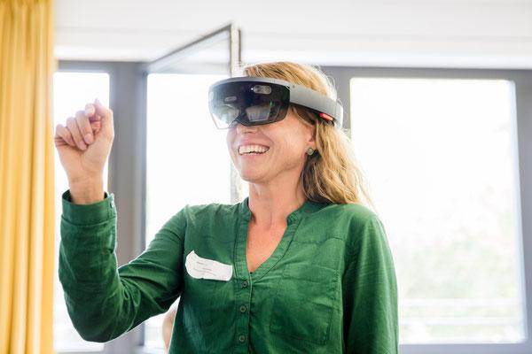 Präsentation von VR-Anwendungen im Rahmen von Workshops