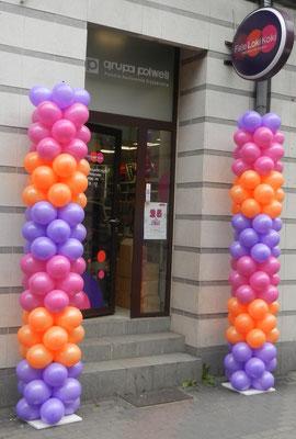 balonowe kolumny