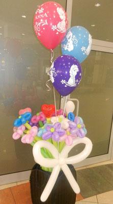 Bukiet z balonami z helem - 64 zł