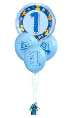 bukiet balonowy roczek niebieski