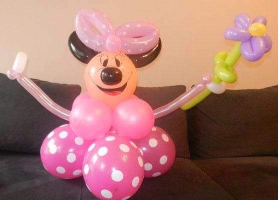Myszka Minnie z balonów
