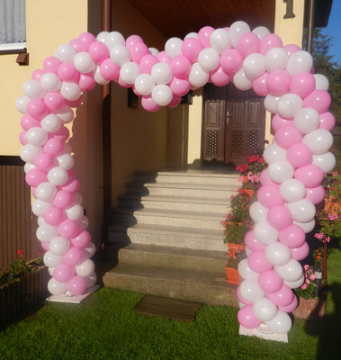 brama z balonów serce