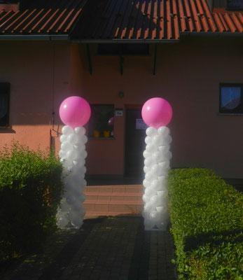kolumny balonowe ślub