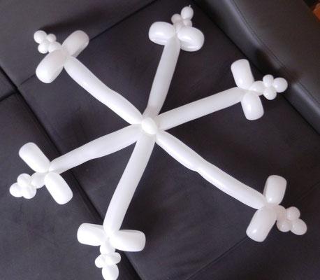płatek śniegu z balonów