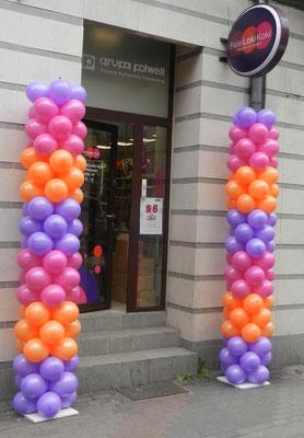 kolumny balonowe - promocja firmy