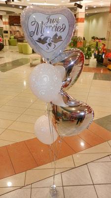bukiet balonowy ślubny