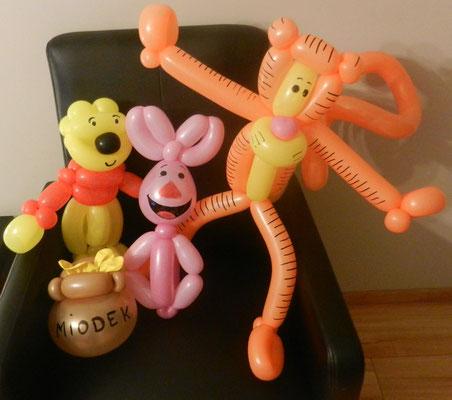 Puchatek i przyjaciele z balonów