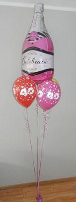 bukiet z balonów szampan rózowy