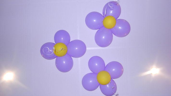 kwiatki z balonów