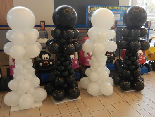 kolumny z balonów