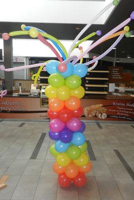 Kolumna z balonów - dzień dziecka