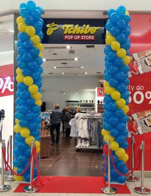 dekoracja kolumna balonowa