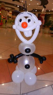 Olaf z balonów