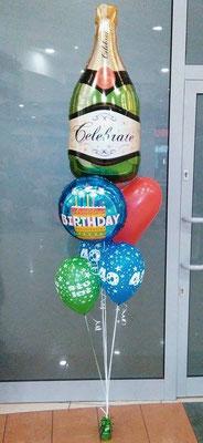 bukiet z balonów szampan