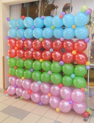 ścianka balonowa kolorowa