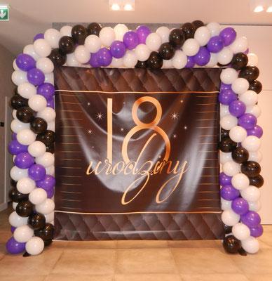 dekoracja balonowa 18 nastka