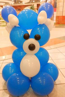 miś z balonów
