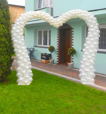 brama serce z balonów Śląsk