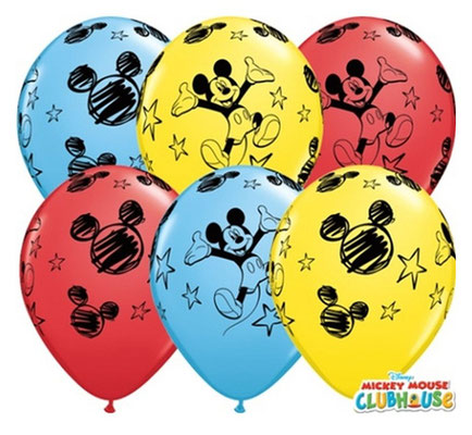 balony z helem myszka miki