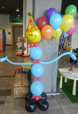 pajacyk z balonów