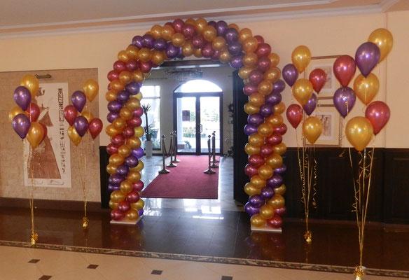 dekoracja sali balonami śląsk