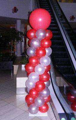 kolumny z balonów - urodziny firmowe