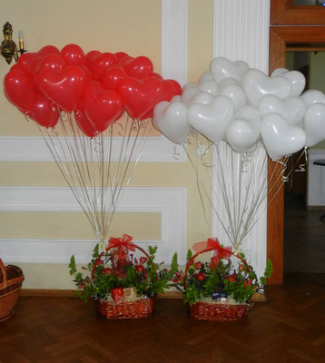 balony z helem na Ślub Śląsk