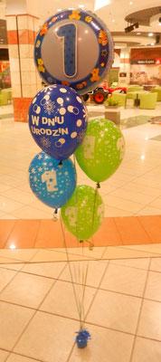 bukiet z balonów roczek
