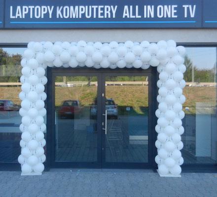 balonowa brama - otwarcie sklepu
