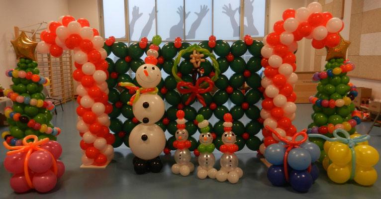Dekoracja Świąteczna z balonów