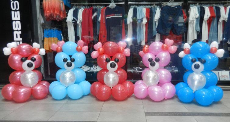 ogromne misie z balonów