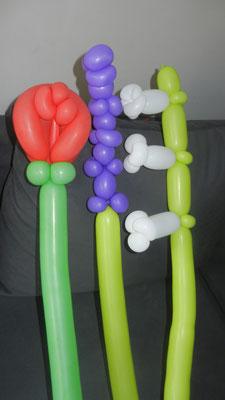 Kwiaty z balonów - 5 zł / szt