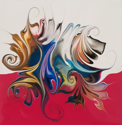 Amonautic Series- abstrakt - Acrylic Pouring