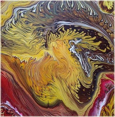 Lions roar - abstrakt Acryl Pouring 60x60 cm