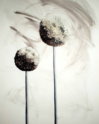 Allium grey - Alcohol Ink - 30x40 cm