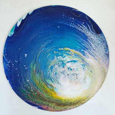 abstrakt - Acrylic Pouring 100 cm Durchmesser