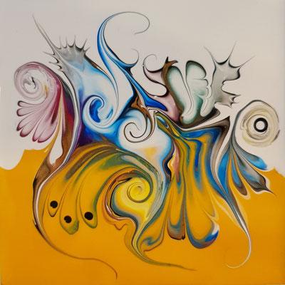 Amonautic Series - abstrakt - Acrylic Pouring